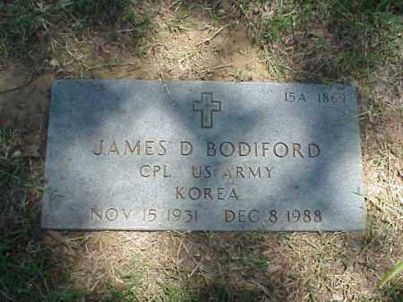 BODIFORD (VETERAN KOR), JAMES D - Pulaski County, Arkansas | JAMES D BODIFORD (VETERAN KOR) - Arkansas Gravestone Photos