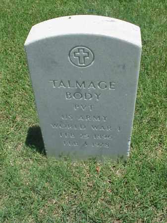 BODY (VETERAN WWI), TALMAGE - Pulaski County, Arkansas | TALMAGE BODY (VETERAN WWI) - Arkansas Gravestone Photos