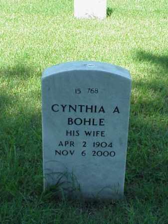 BOHLE, CYNTHIA A - Pulaski County, Arkansas   CYNTHIA A BOHLE - Arkansas Gravestone Photos