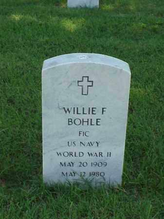 BOHLE (VETERAN WWII), WILLIE F - Pulaski County, Arkansas | WILLIE F BOHLE (VETERAN WWII) - Arkansas Gravestone Photos