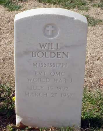 BOLDEN (VETERAN WWI), WILL - Pulaski County, Arkansas | WILL BOLDEN (VETERAN WWI) - Arkansas Gravestone Photos