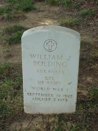 BOLDING (VETERAN WWI), WILLIAM J - Pulaski County, Arkansas   WILLIAM J BOLDING (VETERAN WWI) - Arkansas Gravestone Photos