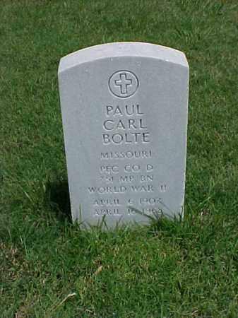 BOLTE (VETERAN WWII), PAUL CARL - Pulaski County, Arkansas | PAUL CARL BOLTE (VETERAN WWII) - Arkansas Gravestone Photos