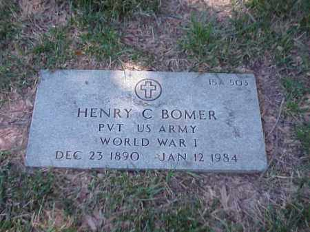 BOMER (VETERAN WWI), HENRY C - Pulaski County, Arkansas | HENRY C BOMER (VETERAN WWI) - Arkansas Gravestone Photos