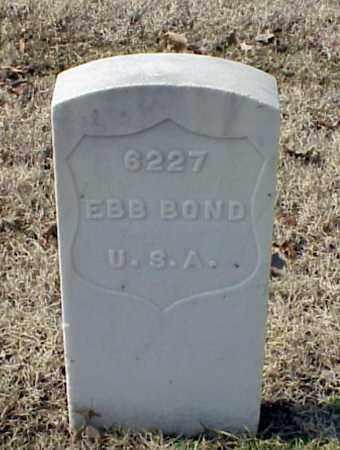 BOND (VETERAN WWI), EBB - Pulaski County, Arkansas   EBB BOND (VETERAN WWI) - Arkansas Gravestone Photos