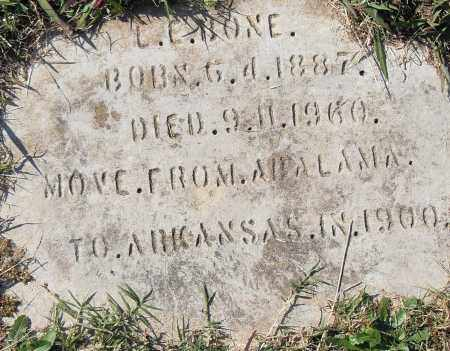 BONE, L E - Pulaski County, Arkansas | L E BONE - Arkansas Gravestone Photos