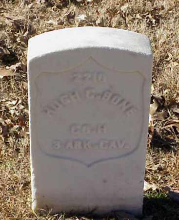 BONE (VETERAN UNION), HUGH C - Pulaski County, Arkansas   HUGH C BONE (VETERAN UNION) - Arkansas Gravestone Photos