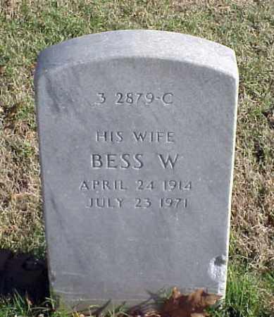 BOOKER, BESS W - Pulaski County, Arkansas   BESS W BOOKER - Arkansas Gravestone Photos