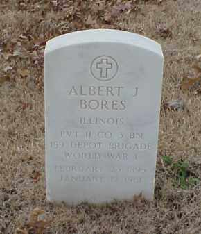 BORES  (VETERAN WWI), ALBERT J - Pulaski County, Arkansas | ALBERT J BORES  (VETERAN WWI) - Arkansas Gravestone Photos