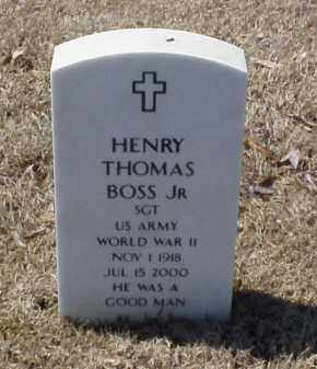 BOSS, JR (VETERAN WWII), HENRY THOMAS - Pulaski County, Arkansas | HENRY THOMAS BOSS, JR (VETERAN WWII) - Arkansas Gravestone Photos