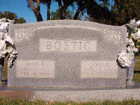 BOSTIC, JOHN E - Pulaski County, Arkansas | JOHN E BOSTIC - Arkansas Gravestone Photos