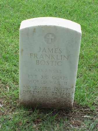 BOSTIC (VETERAN WWII), JAMES FRANKLIN - Pulaski County, Arkansas | JAMES FRANKLIN BOSTIC (VETERAN WWII) - Arkansas Gravestone Photos