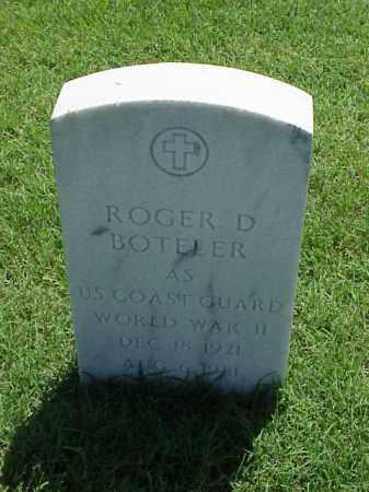 BOTELER (VETERAN WWII), ROGER D - Pulaski County, Arkansas | ROGER D BOTELER (VETERAN WWII) - Arkansas Gravestone Photos