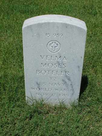 BOTELER (VETERAN WWII), VELMA MOSES - Pulaski County, Arkansas | VELMA MOSES BOTELER (VETERAN WWII) - Arkansas Gravestone Photos