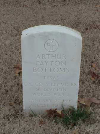 BOTTOMS (VETERAN WWI), ARTHUR PAYTON - Pulaski County, Arkansas | ARTHUR PAYTON BOTTOMS (VETERAN WWI) - Arkansas Gravestone Photos