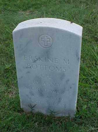 BOTTOMS (VETERAN WWI), ERSKINE M - Pulaski County, Arkansas   ERSKINE M BOTTOMS (VETERAN WWI) - Arkansas Gravestone Photos