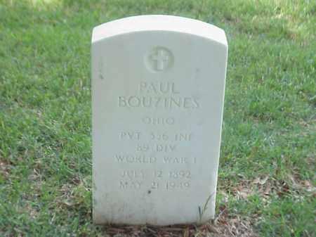 BOUZINES (VETERAN WWI), PAUL - Pulaski County, Arkansas | PAUL BOUZINES (VETERAN WWI) - Arkansas Gravestone Photos