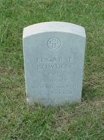 BOWDEN (VETERAN WWII), EDGAR T - Pulaski County, Arkansas | EDGAR T BOWDEN (VETERAN WWII) - Arkansas Gravestone Photos