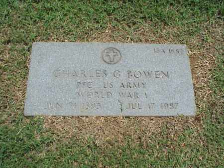 BOWEN (VETERAN WWI), CHARLES G - Pulaski County, Arkansas | CHARLES G BOWEN (VETERAN WWI) - Arkansas Gravestone Photos