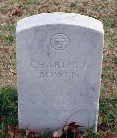 BOWEN (VETERAN WWII), CHARLIE L - Pulaski County, Arkansas   CHARLIE L BOWEN (VETERAN WWII) - Arkansas Gravestone Photos