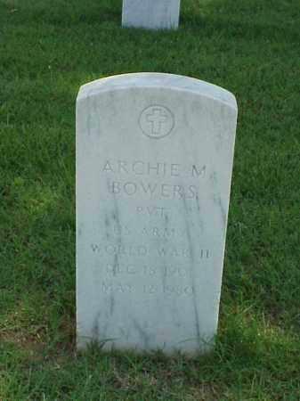 BOWERS (VETERAN WWII), ARCHIE M - Pulaski County, Arkansas | ARCHIE M BOWERS (VETERAN WWII) - Arkansas Gravestone Photos