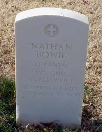 BOWIE (VETERAN WWI), NATHAN - Pulaski County, Arkansas | NATHAN BOWIE (VETERAN WWI) - Arkansas Gravestone Photos