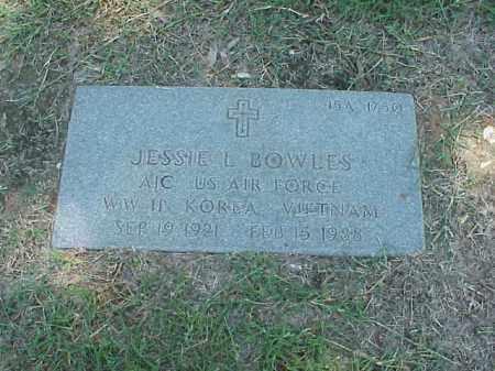 BOWLES (VETERAN 3 WARS), JESSIE L - Pulaski County, Arkansas   JESSIE L BOWLES (VETERAN 3 WARS) - Arkansas Gravestone Photos