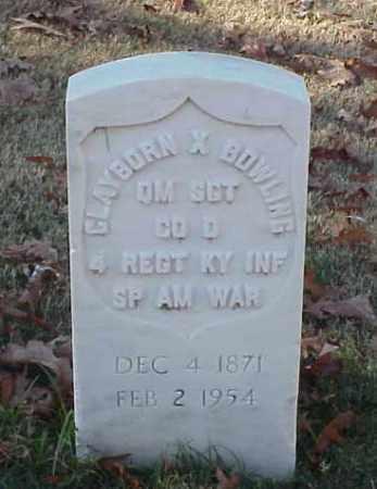 BOWLING (VETERAN SAW), CLAYBORN X - Pulaski County, Arkansas | CLAYBORN X BOWLING (VETERAN SAW) - Arkansas Gravestone Photos