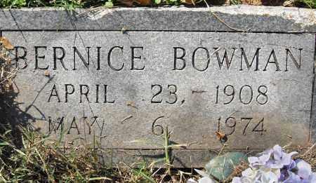 BOWMAN, BERNICE - Pulaski County, Arkansas   BERNICE BOWMAN - Arkansas Gravestone Photos