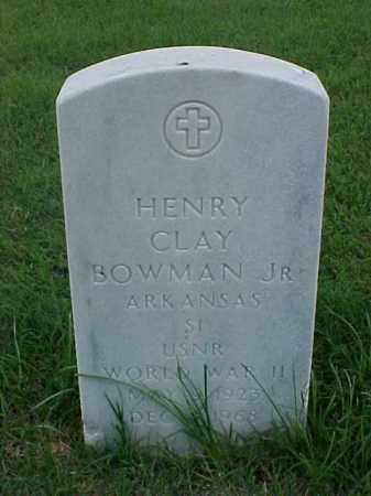 BOWMAN, JR (VETERAN WWII), HENRY CLAY - Pulaski County, Arkansas | HENRY CLAY BOWMAN, JR (VETERAN WWII) - Arkansas Gravestone Photos