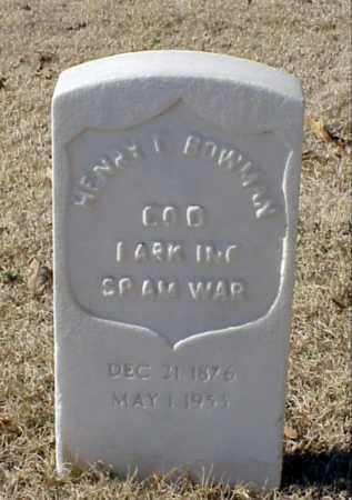 BOWMAN (VETERAN SAW), HENRY C - Pulaski County, Arkansas   HENRY C BOWMAN (VETERAN SAW) - Arkansas Gravestone Photos
