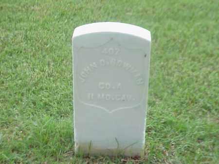 BOWMAN (VETERAN UNON), JOHN O - Pulaski County, Arkansas | JOHN O BOWMAN (VETERAN UNON) - Arkansas Gravestone Photos