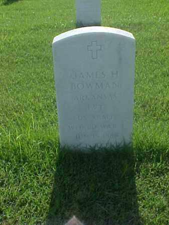 BOWMAN (VETERAN WWI), JAMES H - Pulaski County, Arkansas   JAMES H BOWMAN (VETERAN WWI) - Arkansas Gravestone Photos