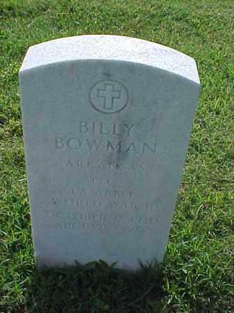 BOWMAN (VETERAN WWII), BILLY - Pulaski County, Arkansas | BILLY BOWMAN (VETERAN WWII) - Arkansas Gravestone Photos
