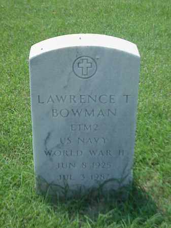 BOWMAN (VETERAN WWII), LAWRENCE T - Pulaski County, Arkansas | LAWRENCE T BOWMAN (VETERAN WWII) - Arkansas Gravestone Photos