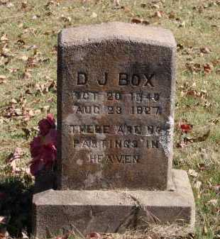 BOX, DANIEL JESSUP - Pulaski County, Arkansas | DANIEL JESSUP BOX - Arkansas Gravestone Photos