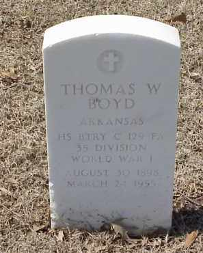 BOYD  (VETERAN WWI), THOMAS W - Pulaski County, Arkansas   THOMAS W BOYD  (VETERAN WWI) - Arkansas Gravestone Photos