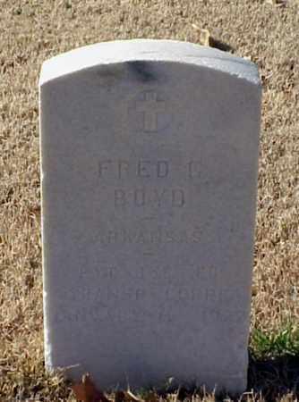BOYD (VETERAN WWI), FRED G - Pulaski County, Arkansas | FRED G BOYD (VETERAN WWI) - Arkansas Gravestone Photos