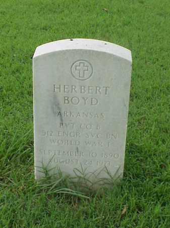BOYD (VETERAN WWI), HERBERT - Pulaski County, Arkansas | HERBERT BOYD (VETERAN WWI) - Arkansas Gravestone Photos