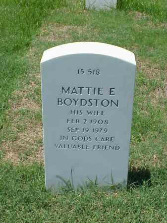 BOYDSTON, MATTIE E - Pulaski County, Arkansas | MATTIE E BOYDSTON - Arkansas Gravestone Photos