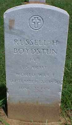 BOYDSTUN (VETERAN WWI), RUSSELL H - Pulaski County, Arkansas | RUSSELL H BOYDSTUN (VETERAN WWI) - Arkansas Gravestone Photos