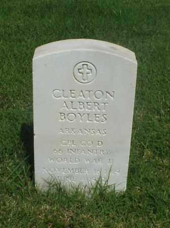 BOYLES (VETERAN WWII), CLEATON ALBERT - Pulaski County, Arkansas   CLEATON ALBERT BOYLES (VETERAN WWII) - Arkansas Gravestone Photos
