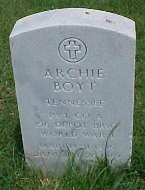 BOYT (VETERAN WWI), ARCHIE - Pulaski County, Arkansas | ARCHIE BOYT (VETERAN WWI) - Arkansas Gravestone Photos