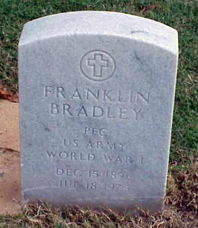 BRADLEY (VETERAN WWI), FRANKLIN - Pulaski County, Arkansas | FRANKLIN BRADLEY (VETERAN WWI) - Arkansas Gravestone Photos