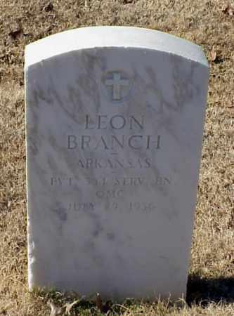 BRANCH (VETERAN WWI), LEON - Pulaski County, Arkansas | LEON BRANCH (VETERAN WWI) - Arkansas Gravestone Photos