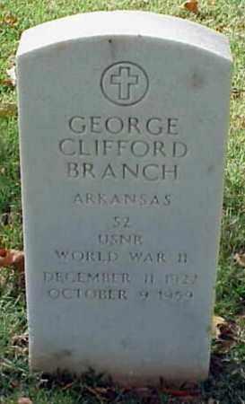 BRANCH (VETERAN WWII), GEORGE CLIFFORD - Pulaski County, Arkansas | GEORGE CLIFFORD BRANCH (VETERAN WWII) - Arkansas Gravestone Photos