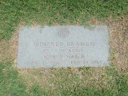 BRANCH (VETERAN WWII), WINFRED - Pulaski County, Arkansas | WINFRED BRANCH (VETERAN WWII) - Arkansas Gravestone Photos