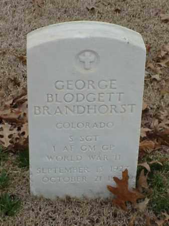 BRANDHORST (VETERAN WWII), GEORGE BLODGETT - Pulaski County, Arkansas | GEORGE BLODGETT BRANDHORST (VETERAN WWII) - Arkansas Gravestone Photos