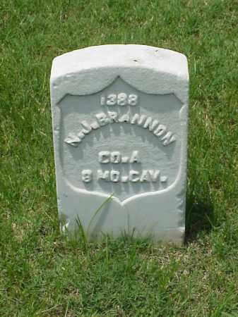 BRANNON (VETERAN UNION), N J - Pulaski County, Arkansas   N J BRANNON (VETERAN UNION) - Arkansas Gravestone Photos