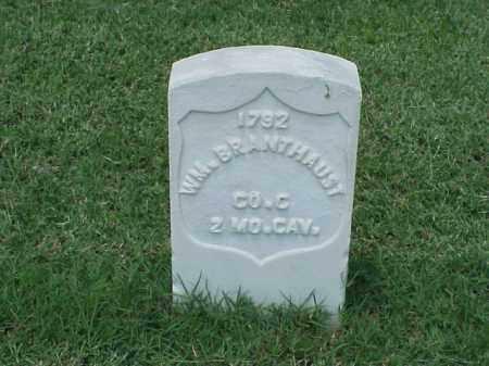 BRANTHAUST (VETERAN UNION), WILLIAM - Pulaski County, Arkansas | WILLIAM BRANTHAUST (VETERAN UNION) - Arkansas Gravestone Photos